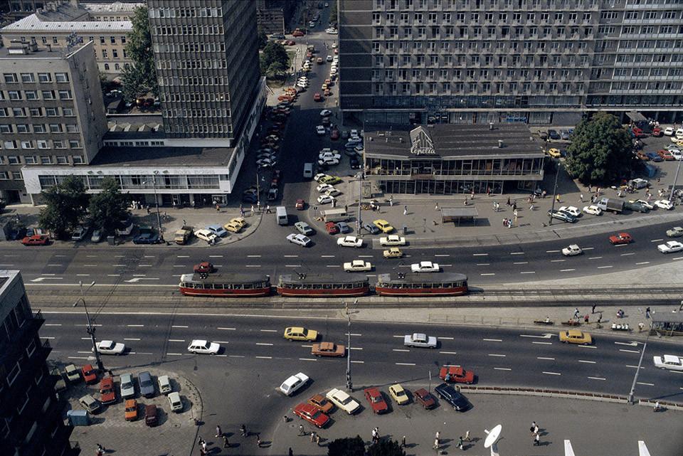 1990 Warsaw Вид с последнего этажа Oтеля-Марриотт