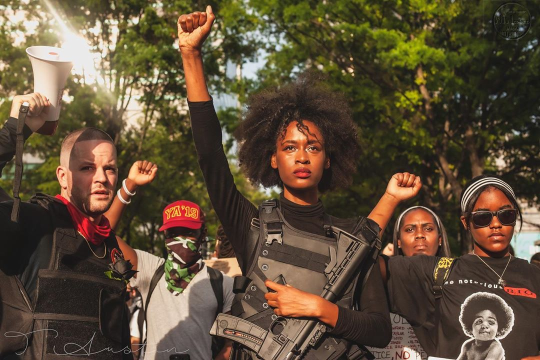 Atlanta, armed Black Panthers showed up to protect the Black Lives Matter protests