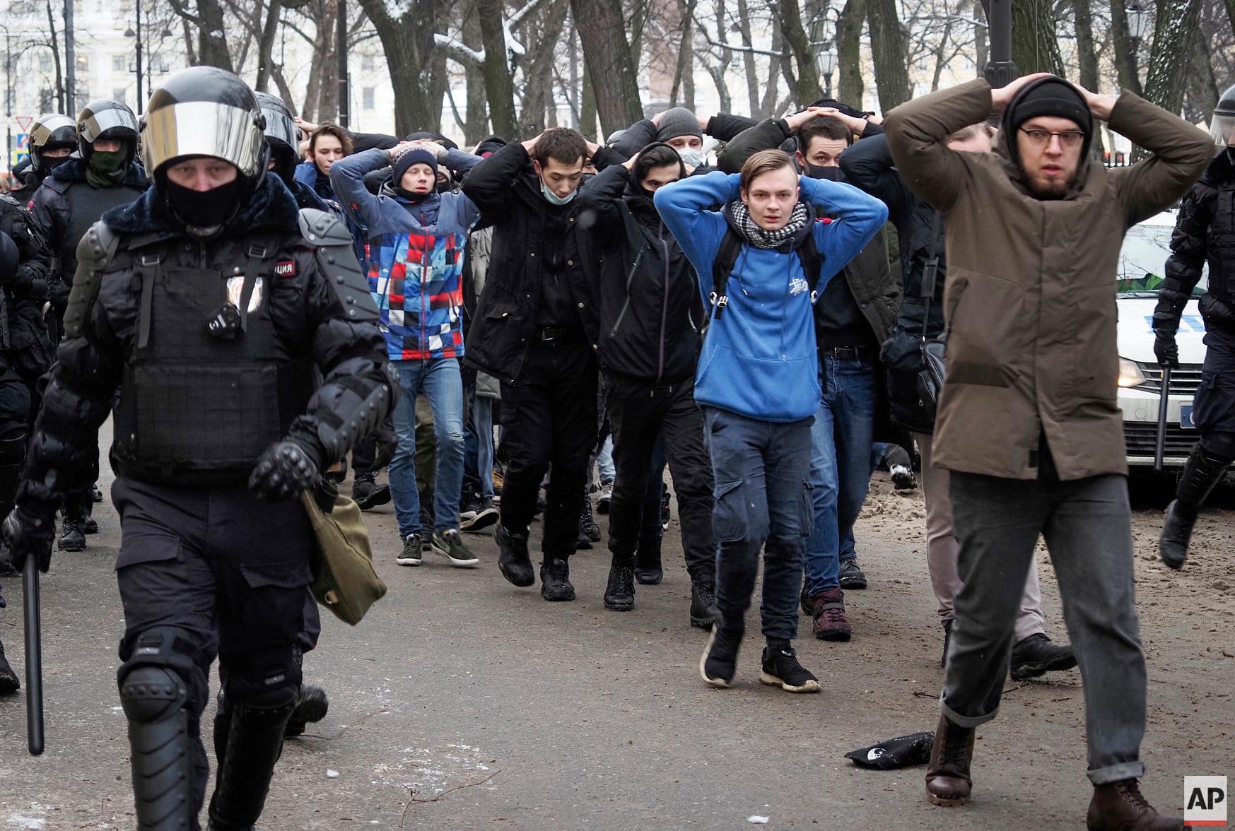 01.31 Задержанные участники акции протеста