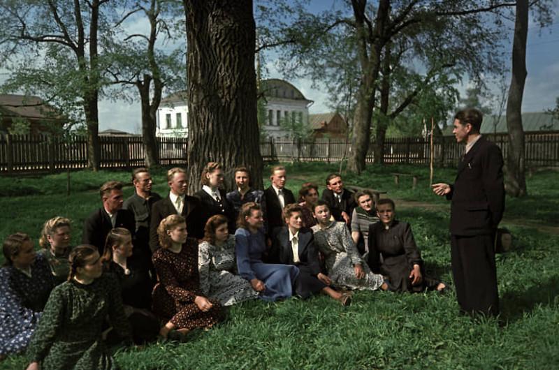 1953 Студенты Академии на практике в Тутаево
