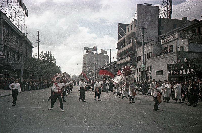 1949-50 Шанхай. Встреча войск Народно-освободительной армии Китая (НОА).