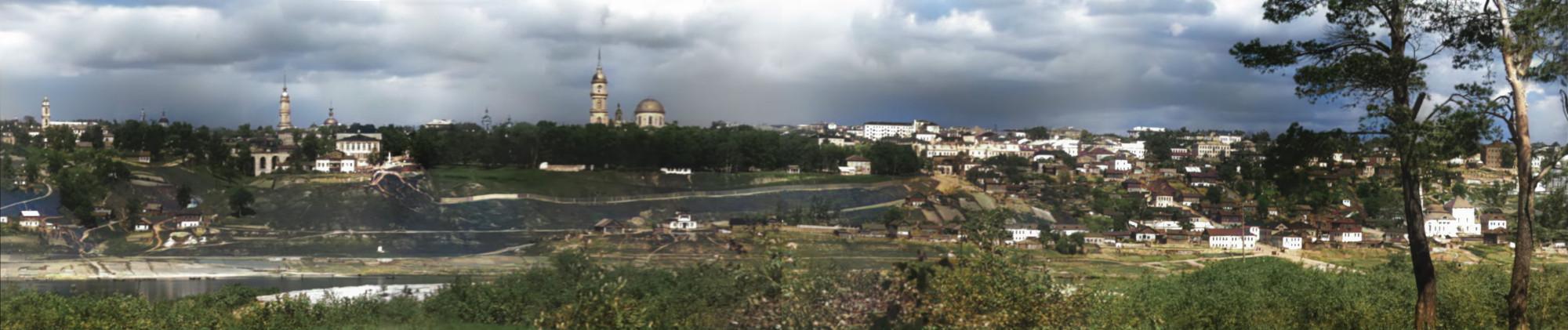 1951 панорама Калуги