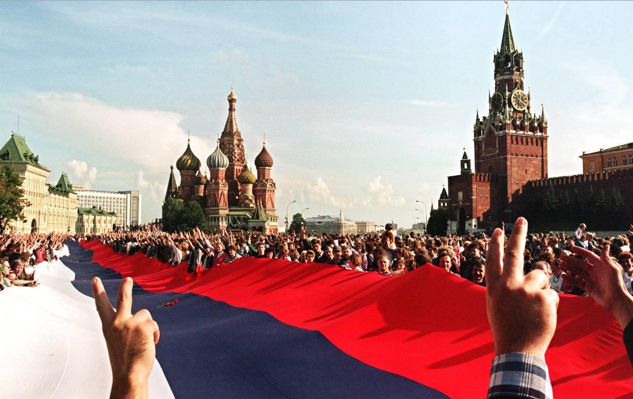 1991 август Торжества в Москве после провала попытки государственного переворота