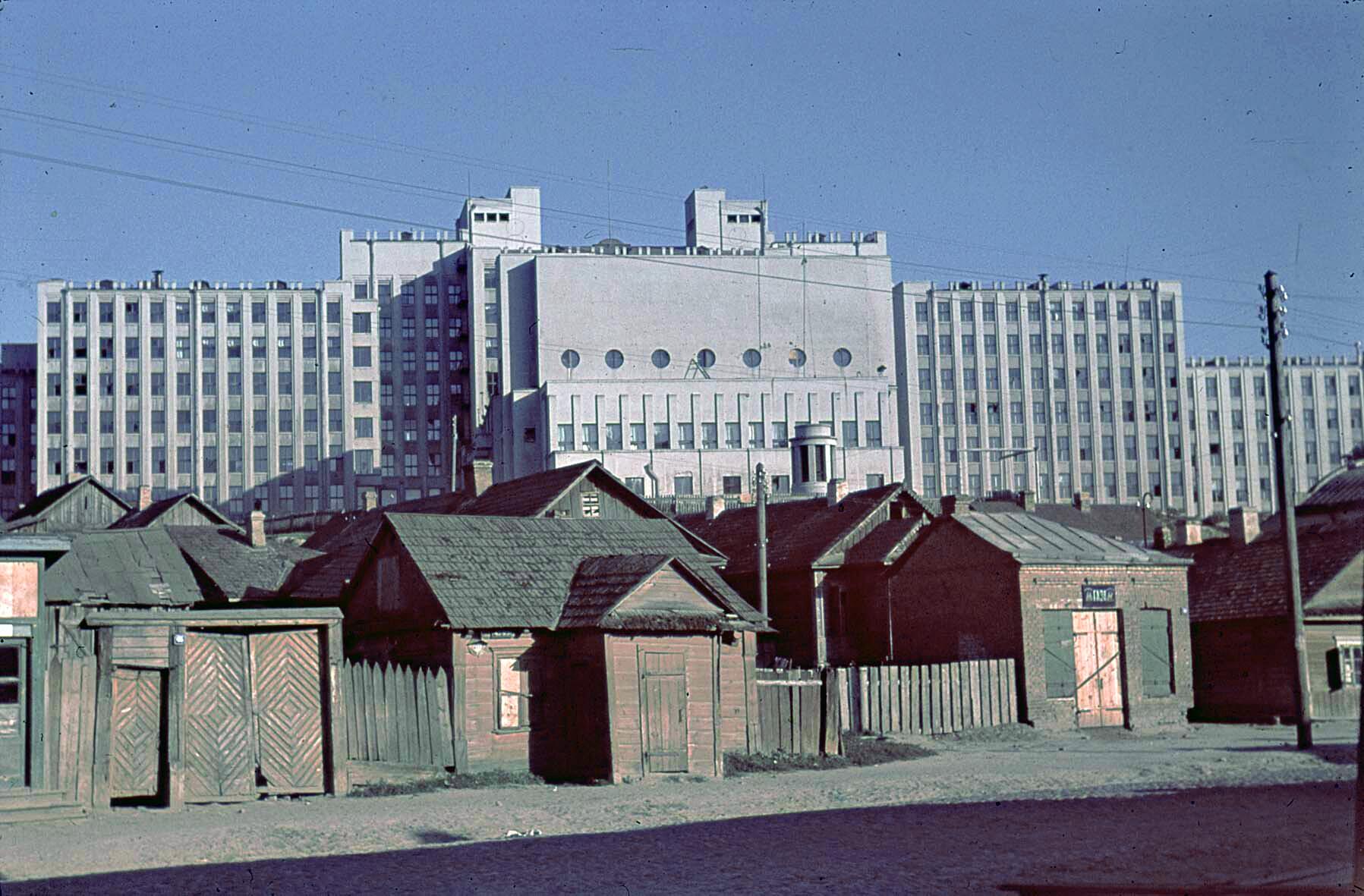 1941 Parlamentsgebäude von Minsk, 10 Juli 1941