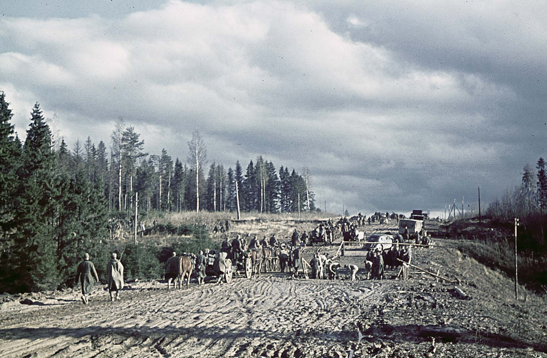 1941 Wehrmacht auf dem Vormarsch bei Možajsk, November 1941
