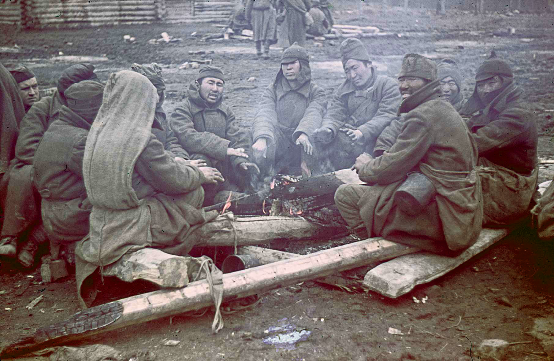 1941 Sowjetische Kriegsgefangene in einem Gefangenenlager bei Gžatsk, November 1941