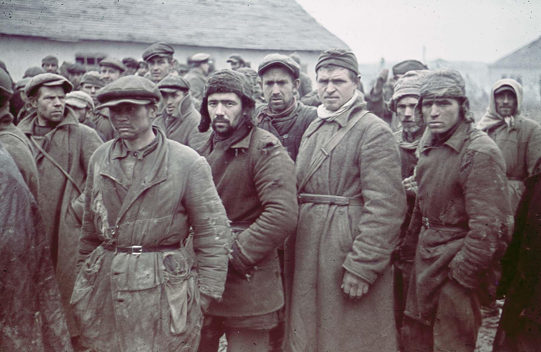1941 Sowjetische Kriegsgefangene, bei Gžatsk , November 1941