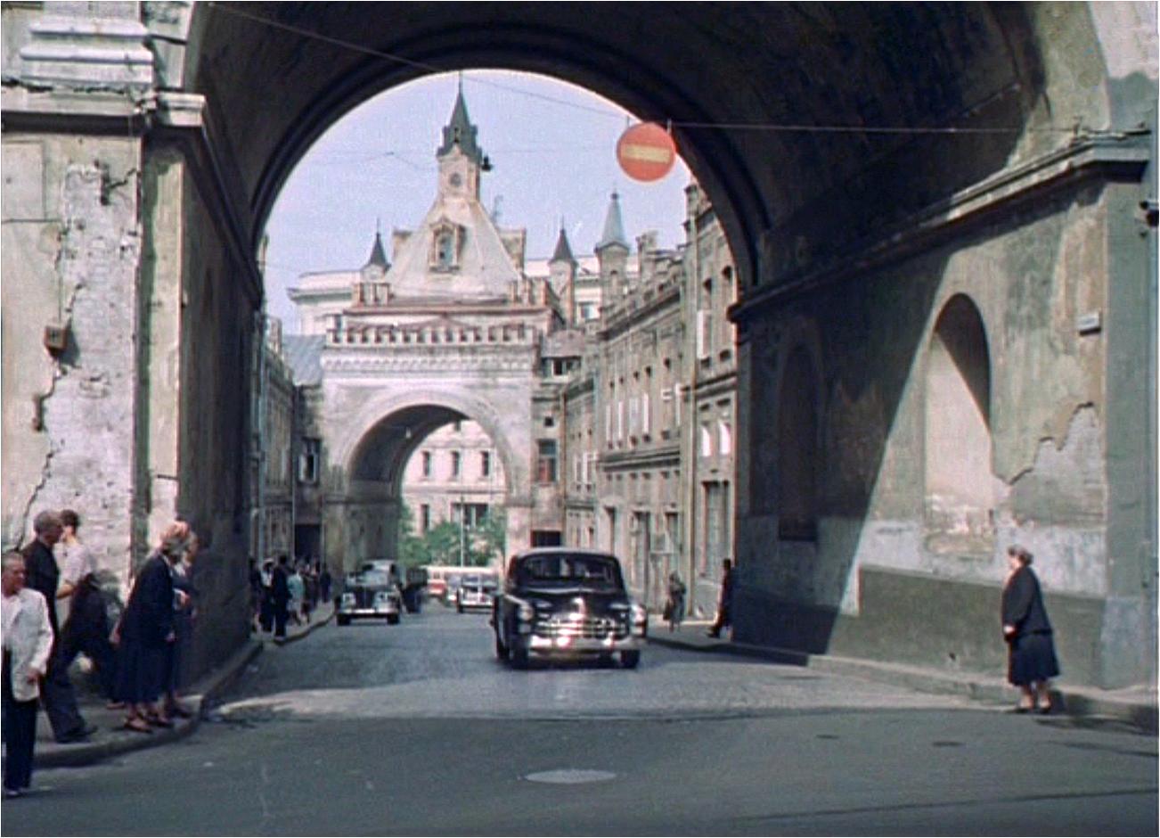 Москва, Третьяковский проезд, 1956 год