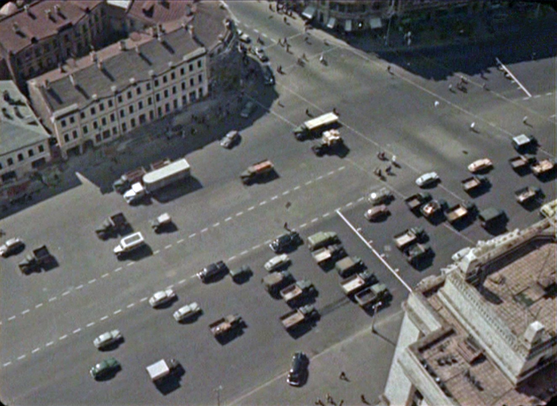"""Цветные кадры из фильма 1956 года """"О москве и москвичах"""". Продолжение"""
