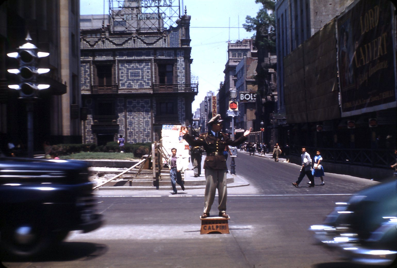 1948 Mexico_City_traffic_cop by Janice Waltzer