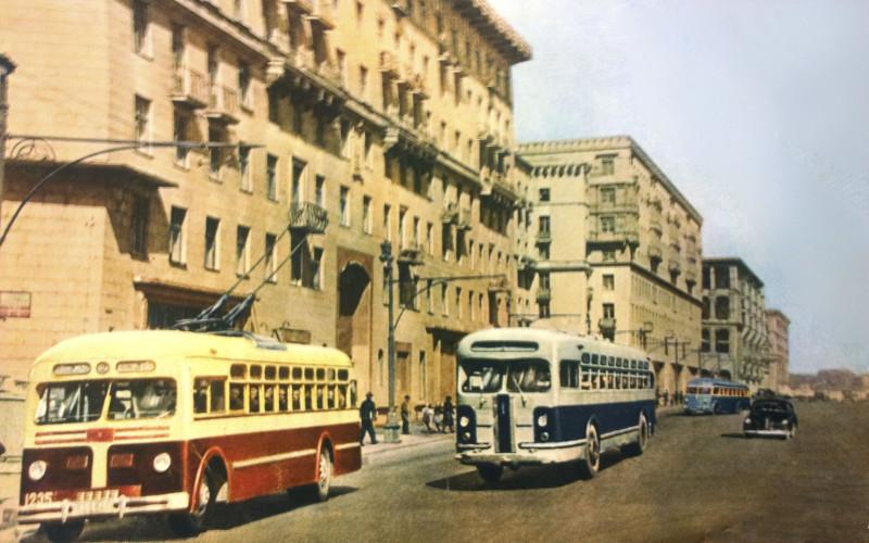 1948 Москва. Жилые дома на новой улице - Можайском шоссе (СССР на стройке, №5, 1949)