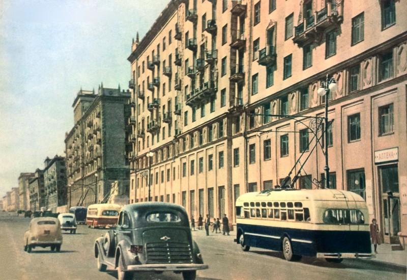 1948с Кварталы новых домов на Большой Калужской улице. СССР на стройке, 1949.  № 5