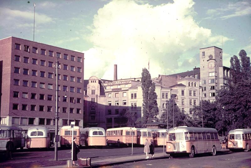 1936-38 Olso, Ратушная площадь. Автовокзал