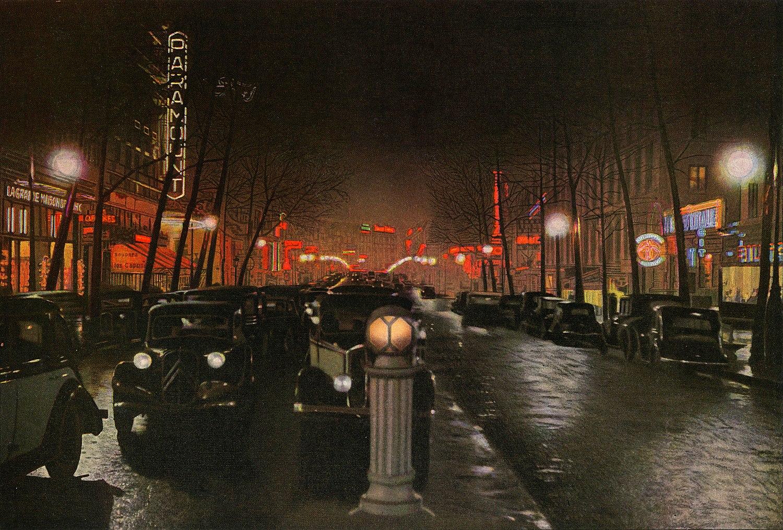1938 Paris. Boulevard des Capucines. Leon Gimpel