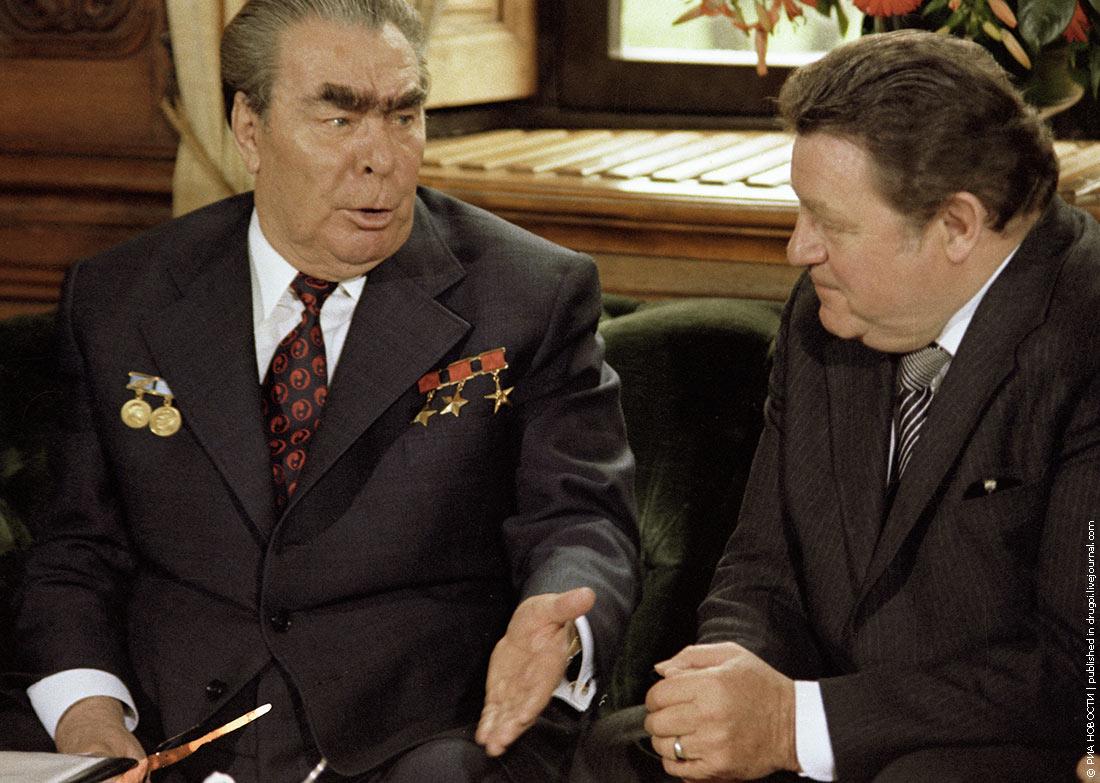 1978 Разговор с председателем Христианско-социального союза Францем Йозефом Штраусом во время визита в ФРГ