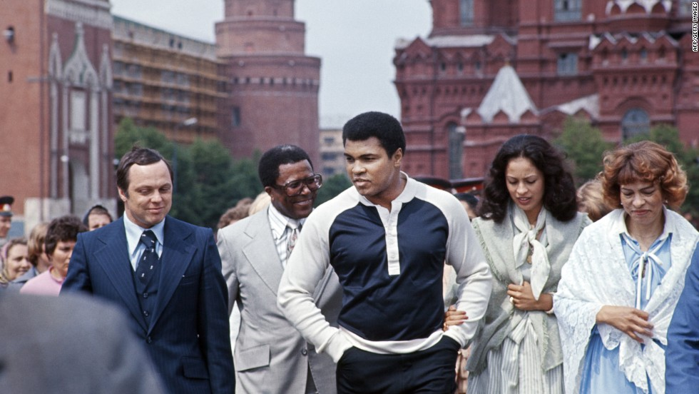 Muhammad Ali in Moscow, 1978, june