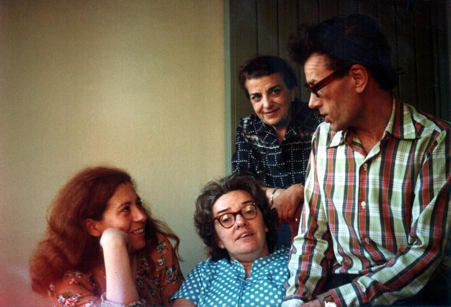 Юлия Вишневская, Людмила Алексеева, Дина Каминская и Кронид Любарский. Мюнхен, 1978