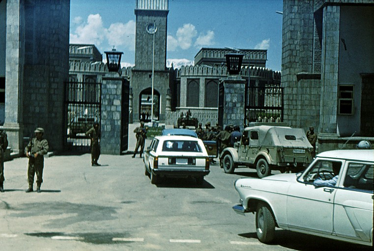 Outside the Presidential Palace in Kabul, a day after the Marxist revolution on April 28, 1978