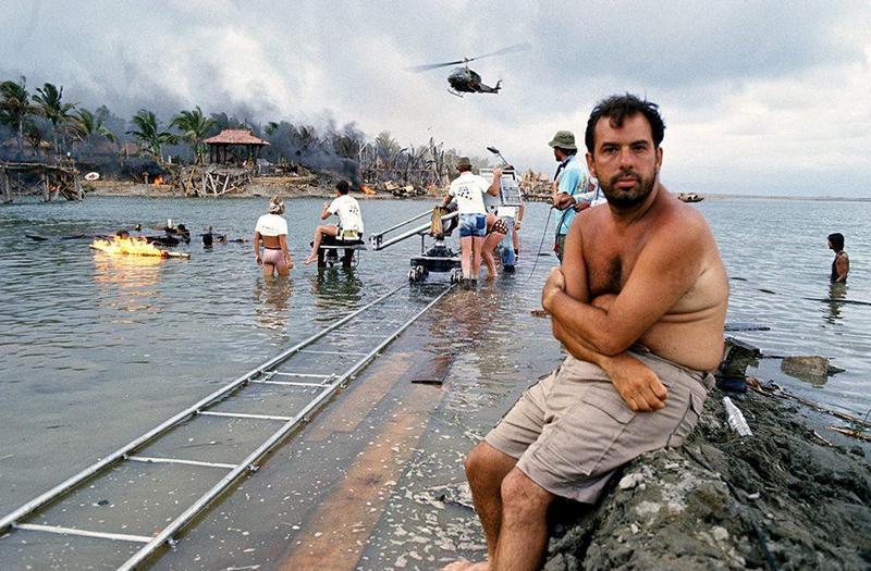 Френсис Форд Коппола на съемках фильма Апокалипсис сегодня, 1978 г