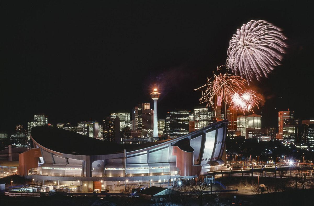 Calgary, во время XV зимних Олимпийских игр, проводившихся с 13-28 февраля 1988 года в Калгари, Альберта, Канада