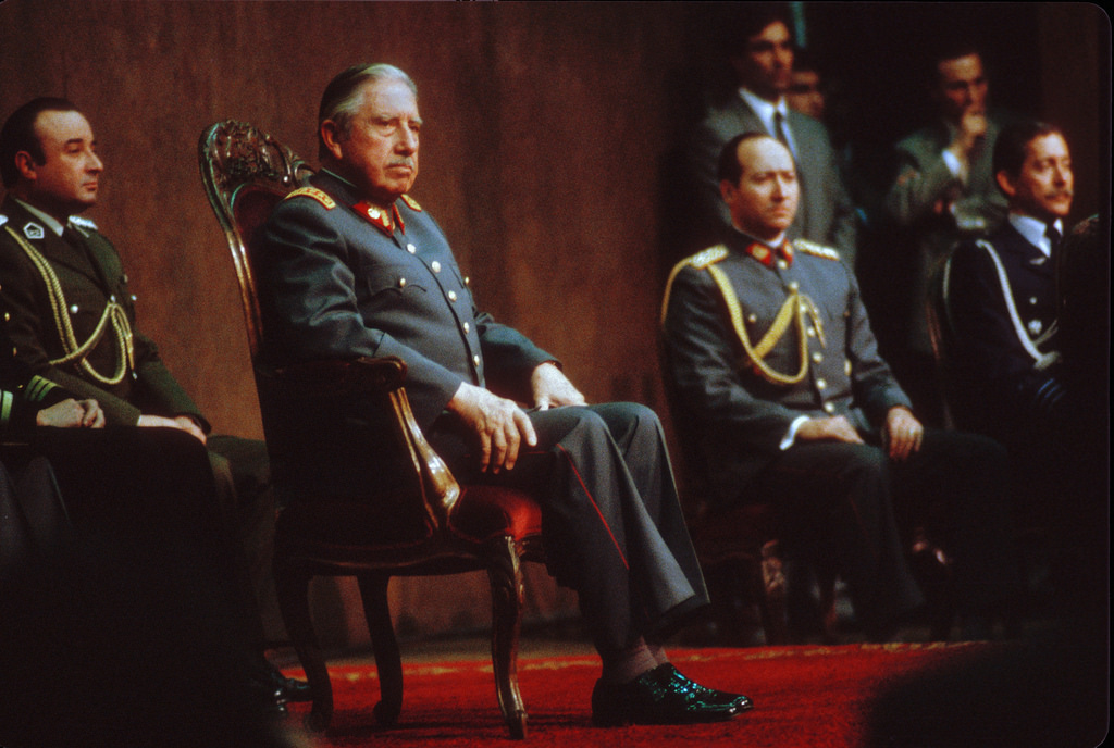 Pinochet accepting nomination, Santiago, 1988