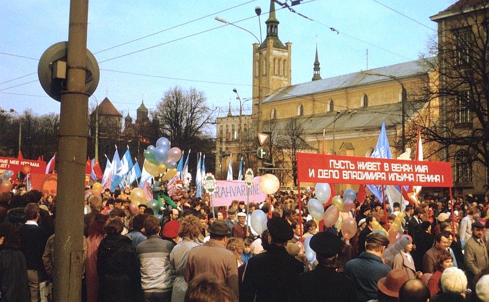 Первомай в Таллине 1988