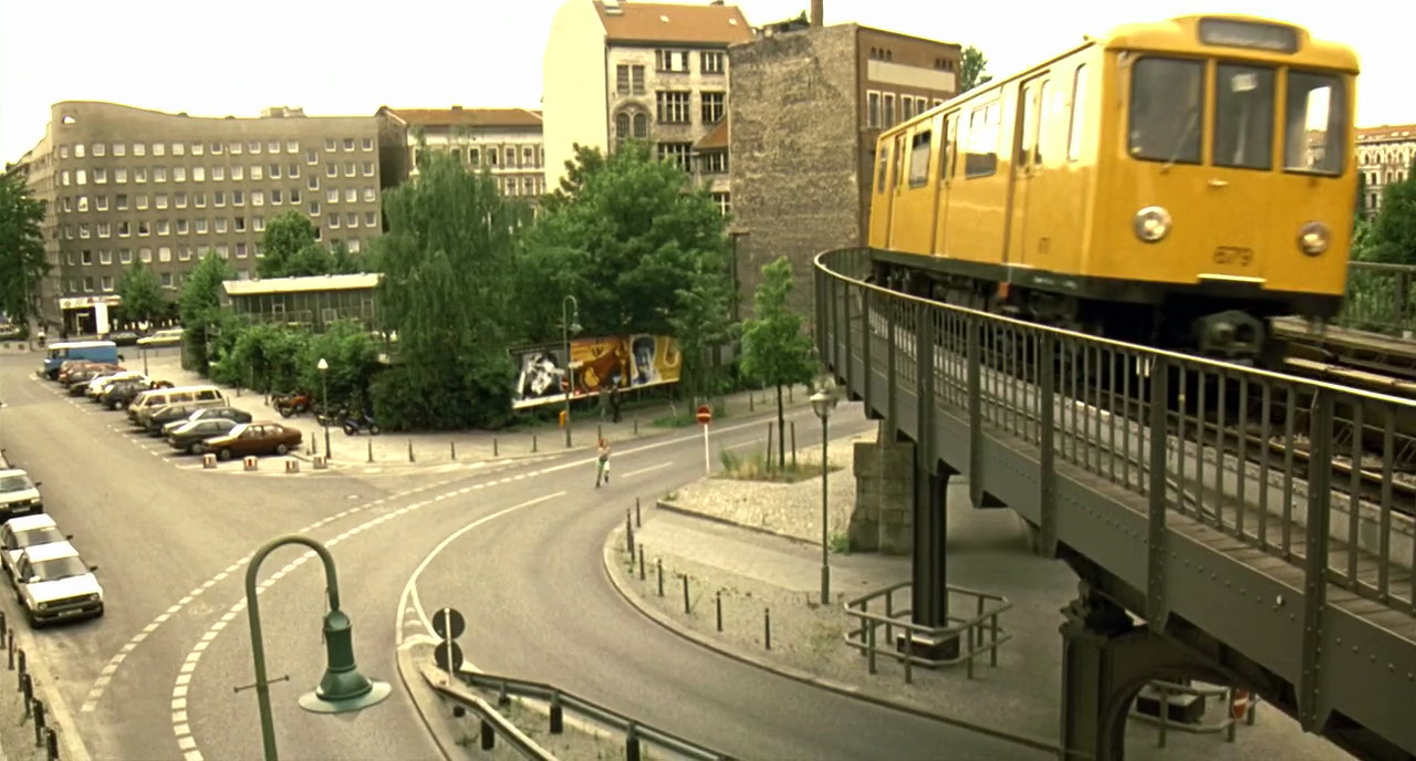 1998 Berlin. U-bahn train from the movie Run Lola Run