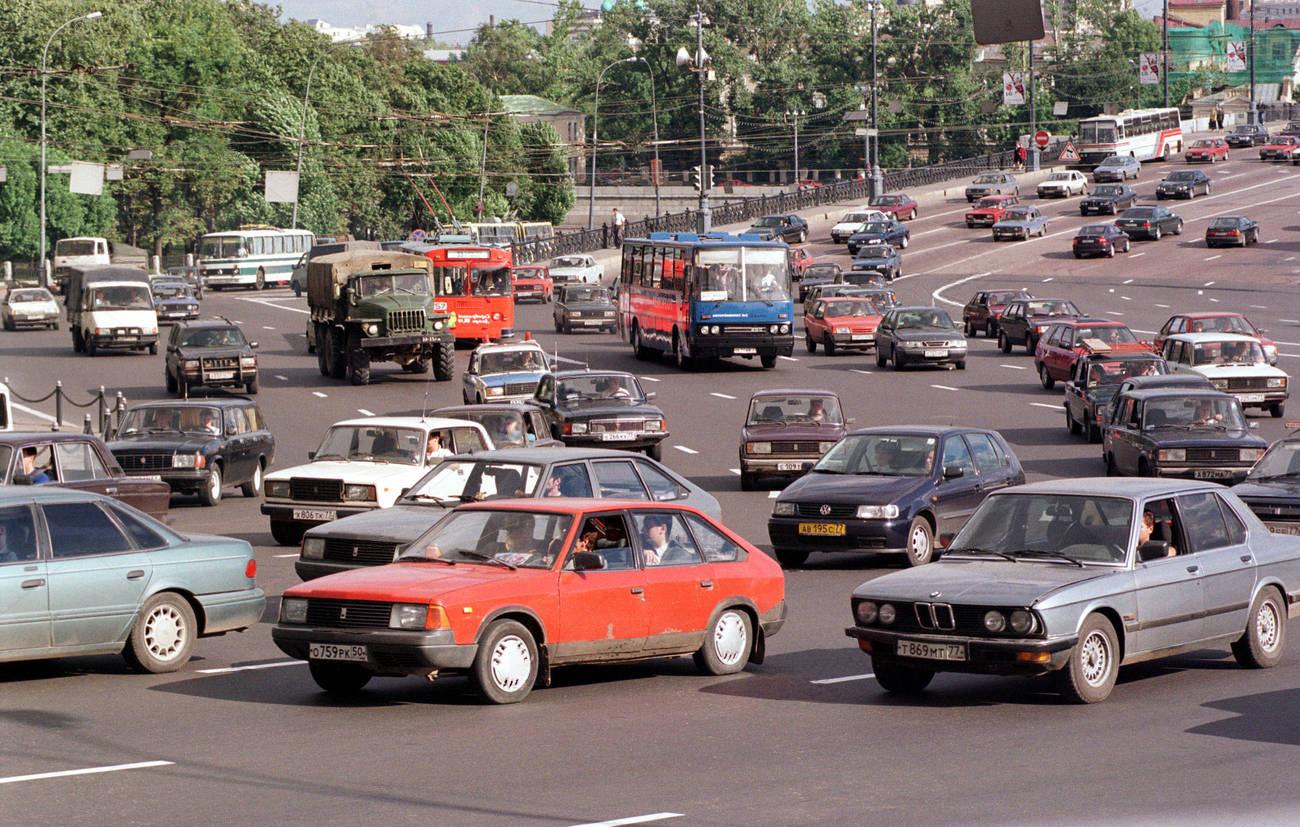 1998 Москва. Боровицкая площадь