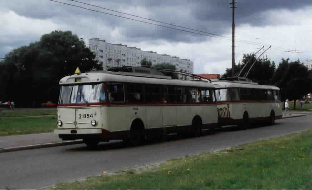 1998 Рига, trolley train composed of two Skoda 9Trs--854 and 869
