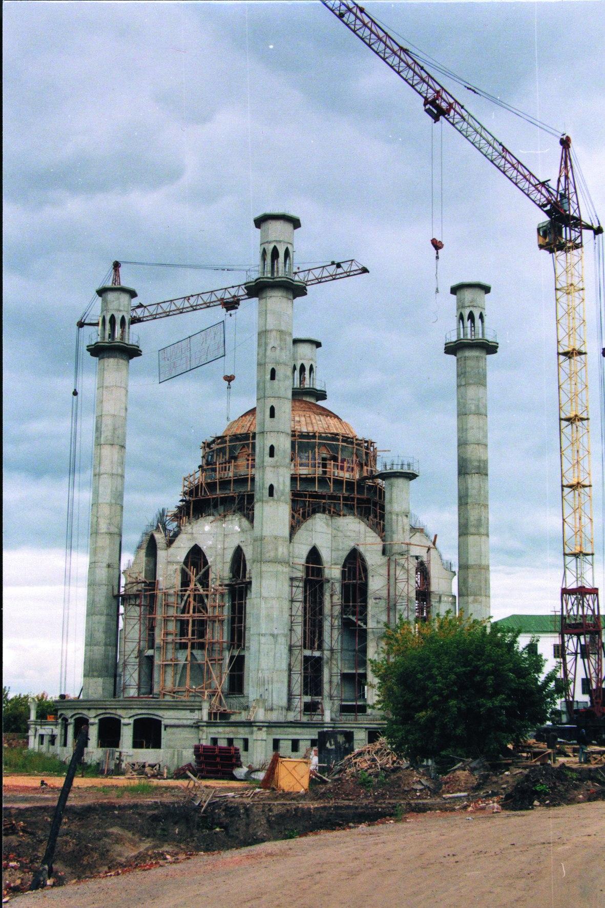 1998 г. Казань. Строительство мечети Кул-Шариф.