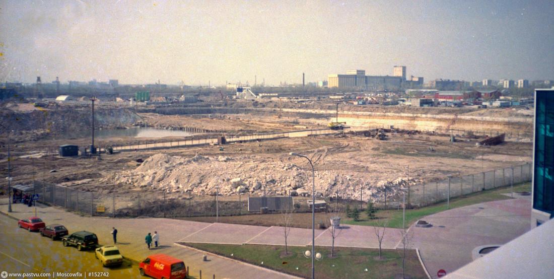 1998 год Стройплощадка Москва-Сити