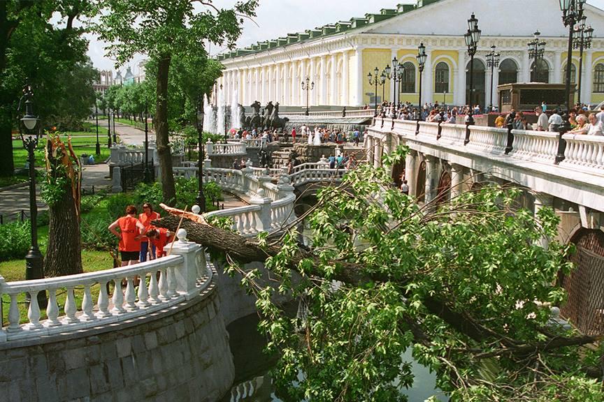 1998 Московский ураган-1998. Игорь Зотин. Фотохроника ТАСС.