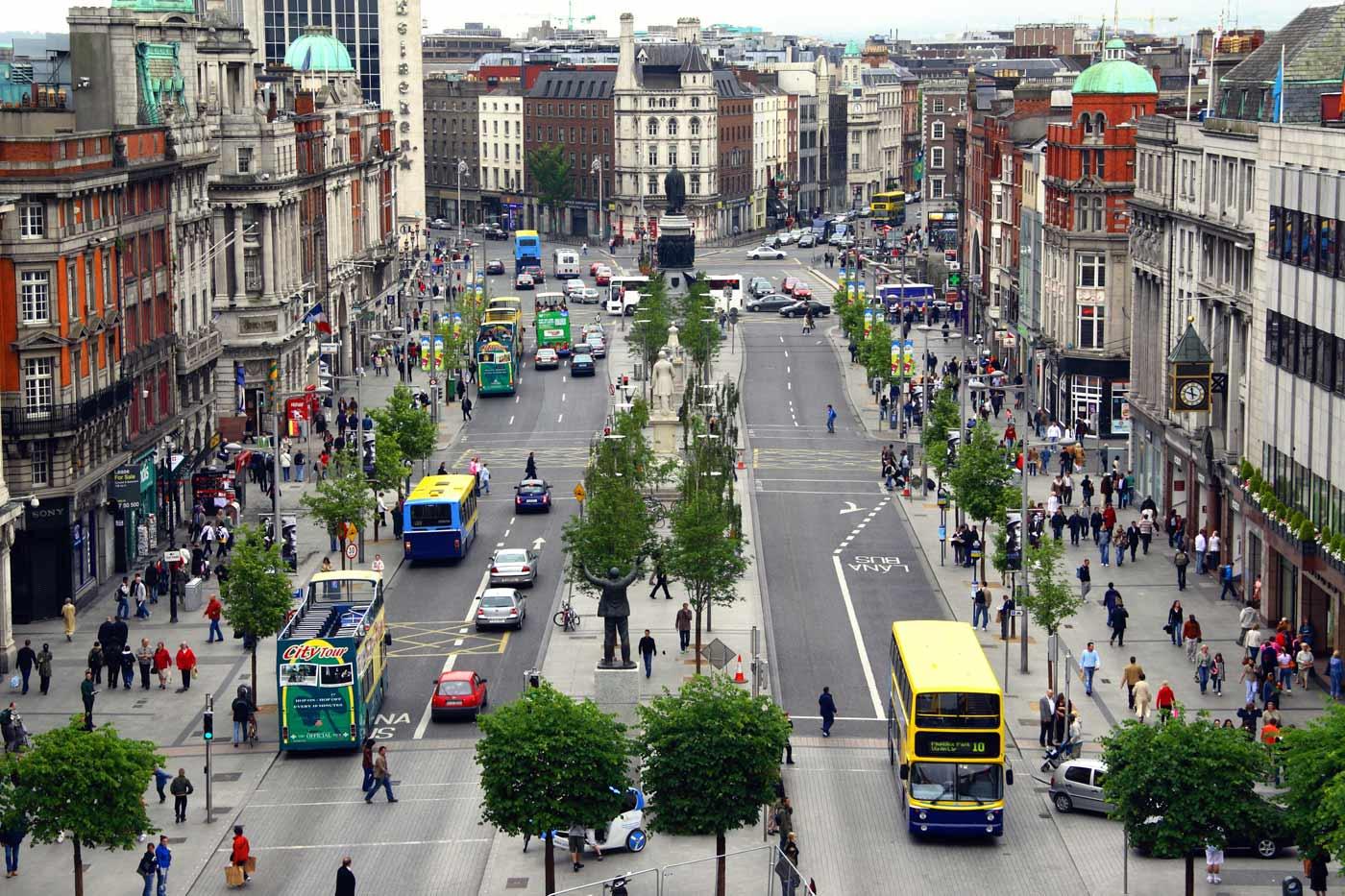 1993 Dublin2015 Dublin O'Connell Street