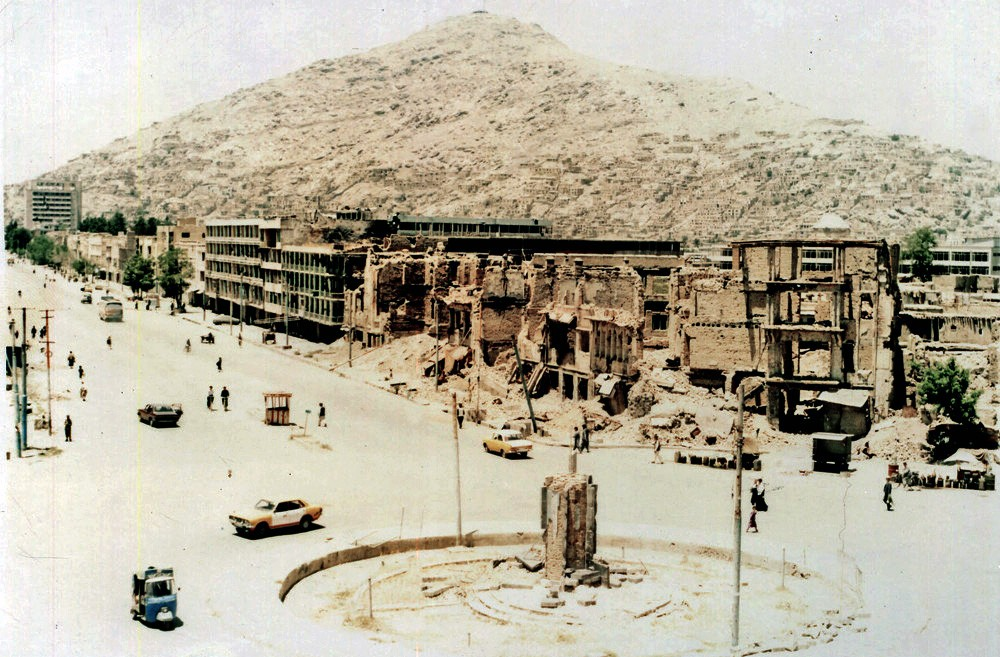 1993 Kabul A totally destroyed section of Kabul