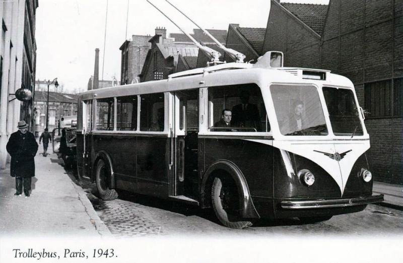 1943 Paris trolleybus