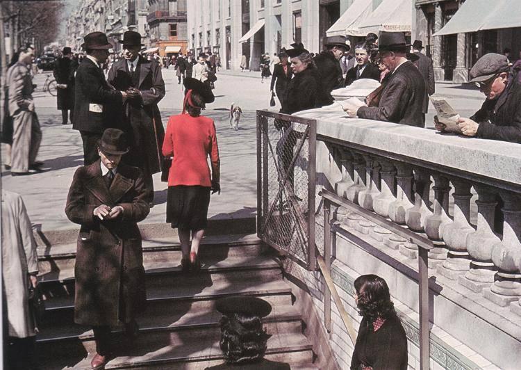 1943 Paris Метро Марбёф-Елисейские поля