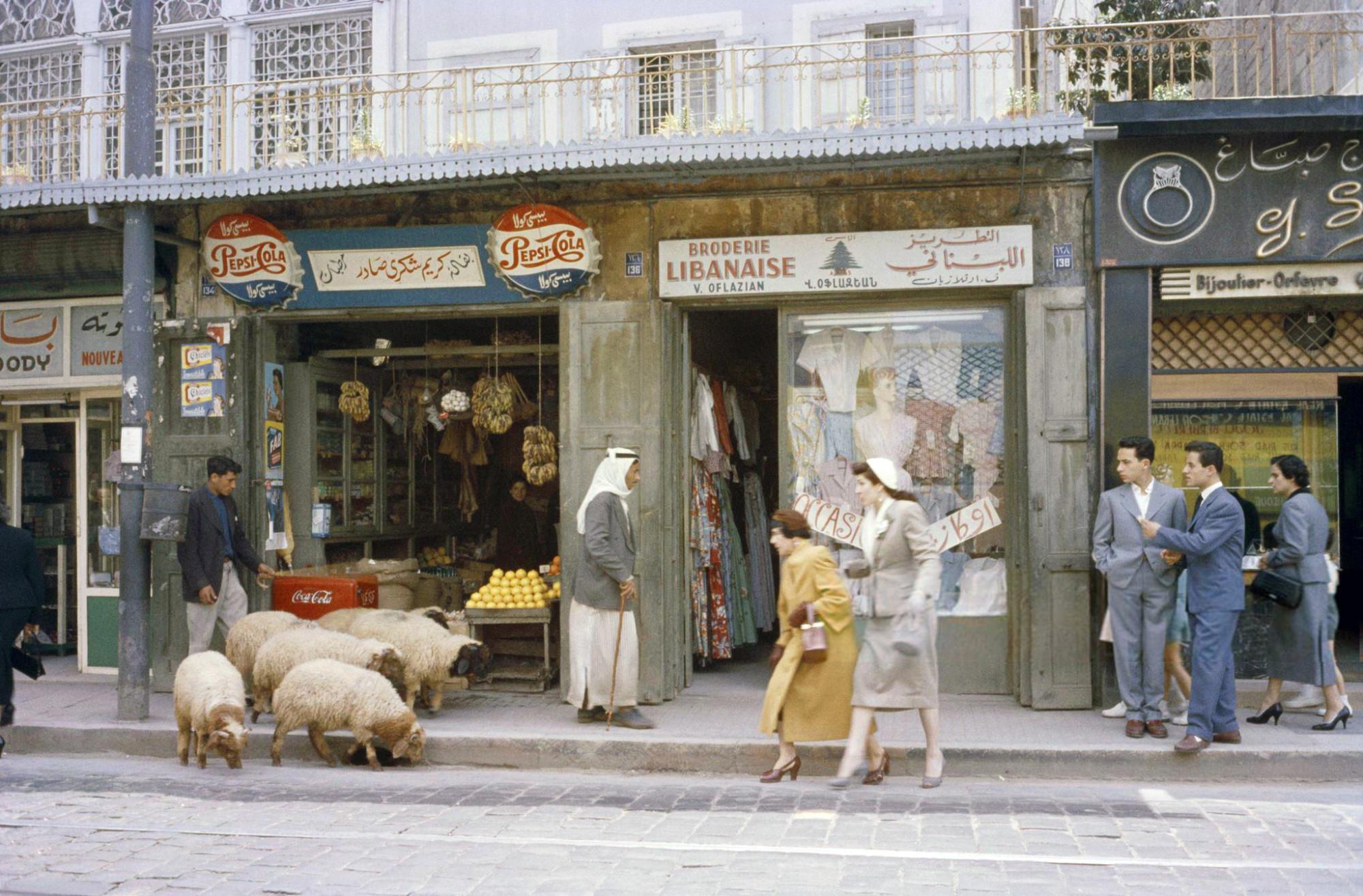 1958 Бейрут. Rue Georges-Picot, Thomas J Abercrombie