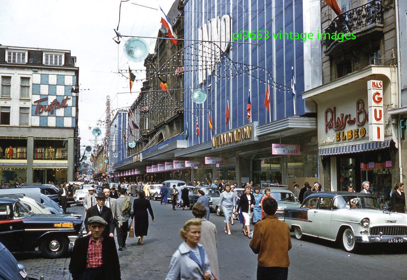 1958 Брюссель. Rue de Neuve Street