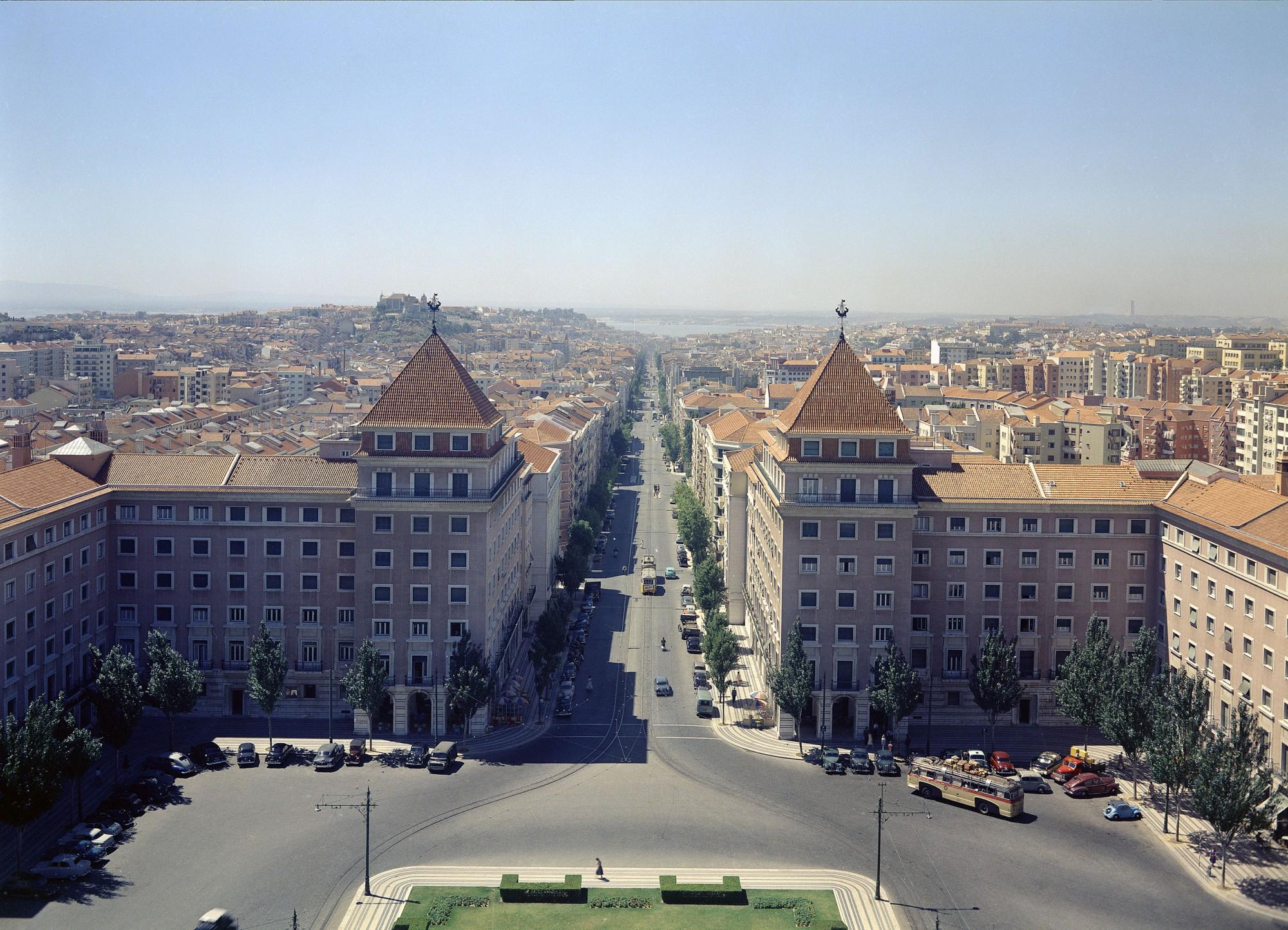 1958 Лиссабон Praca do Areeiro