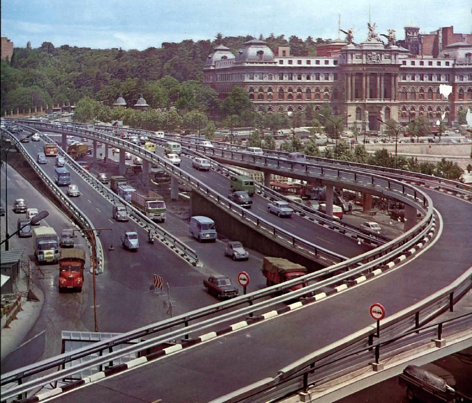1968 Мадрид Glorieta de Atocha