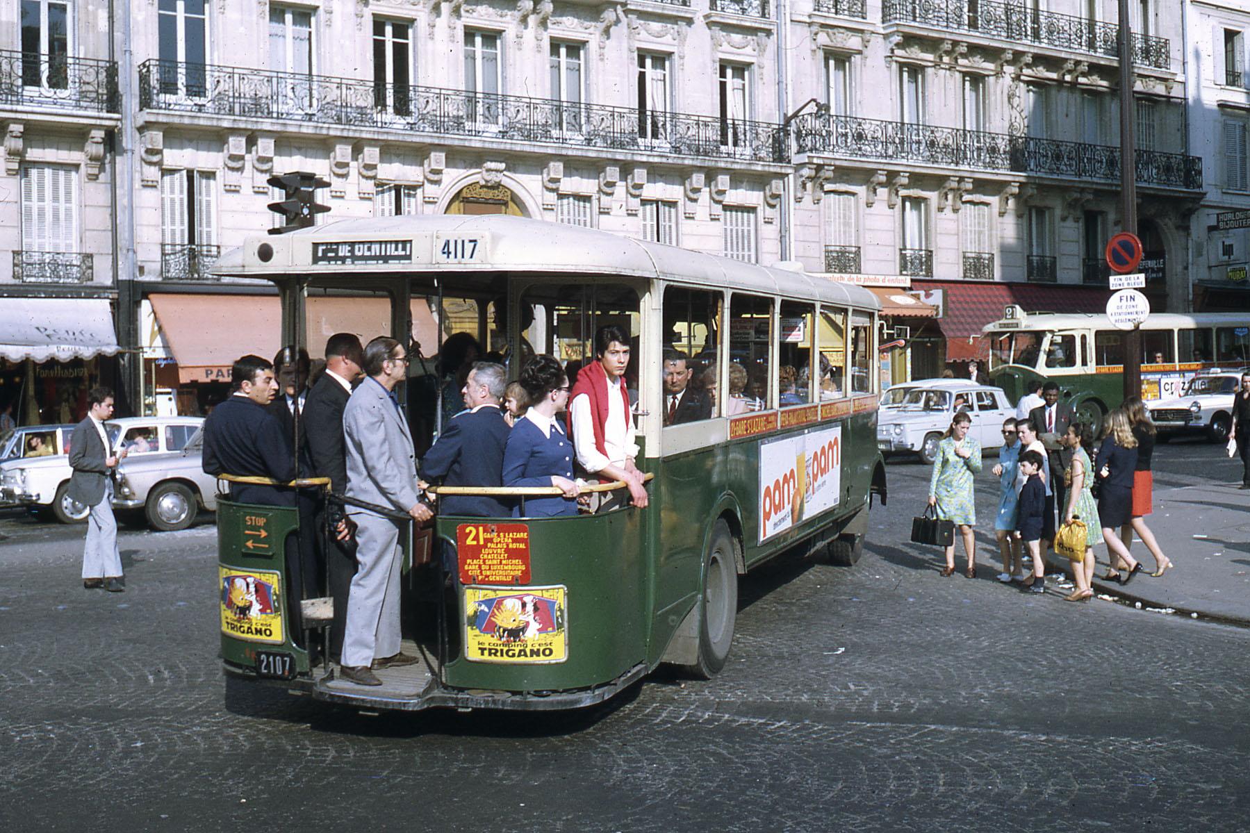 1968 Париж RATP autobus TN4 Hp