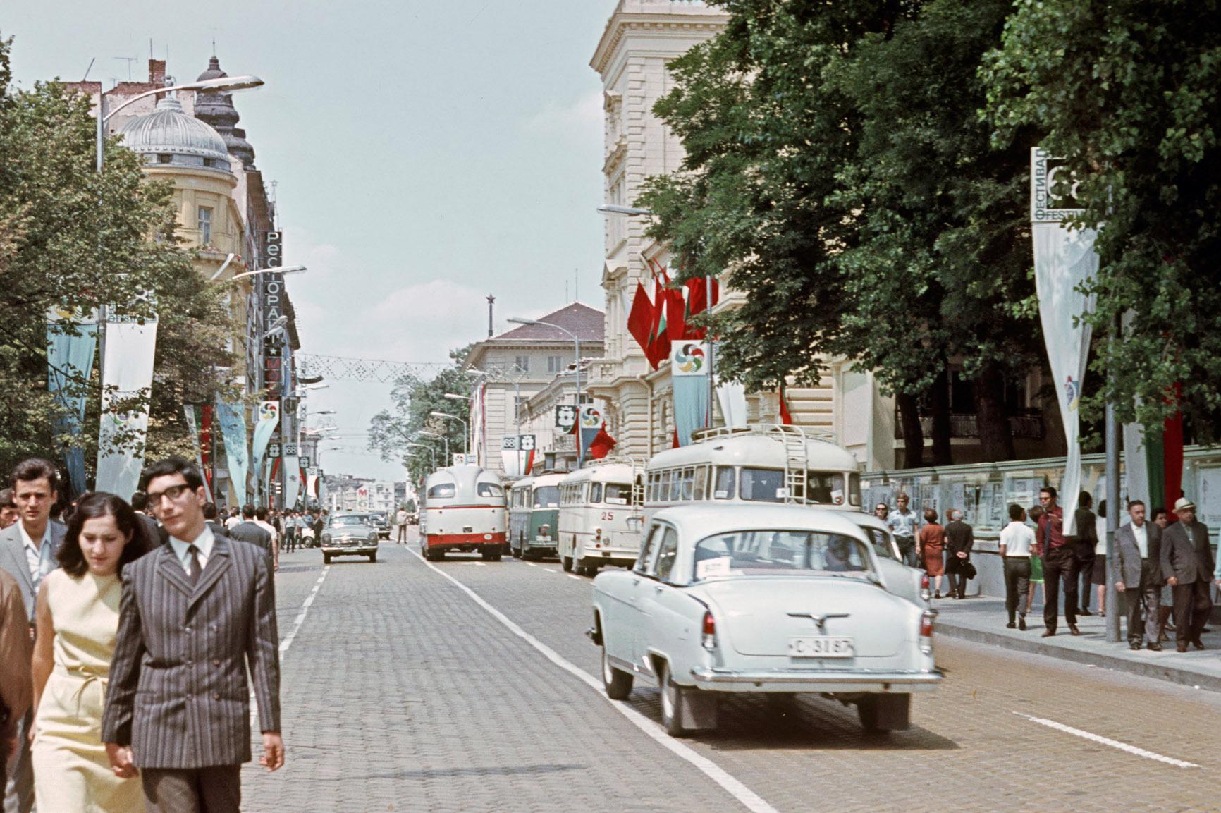 1968 София Во время Фестиваля молодёжи и студентов