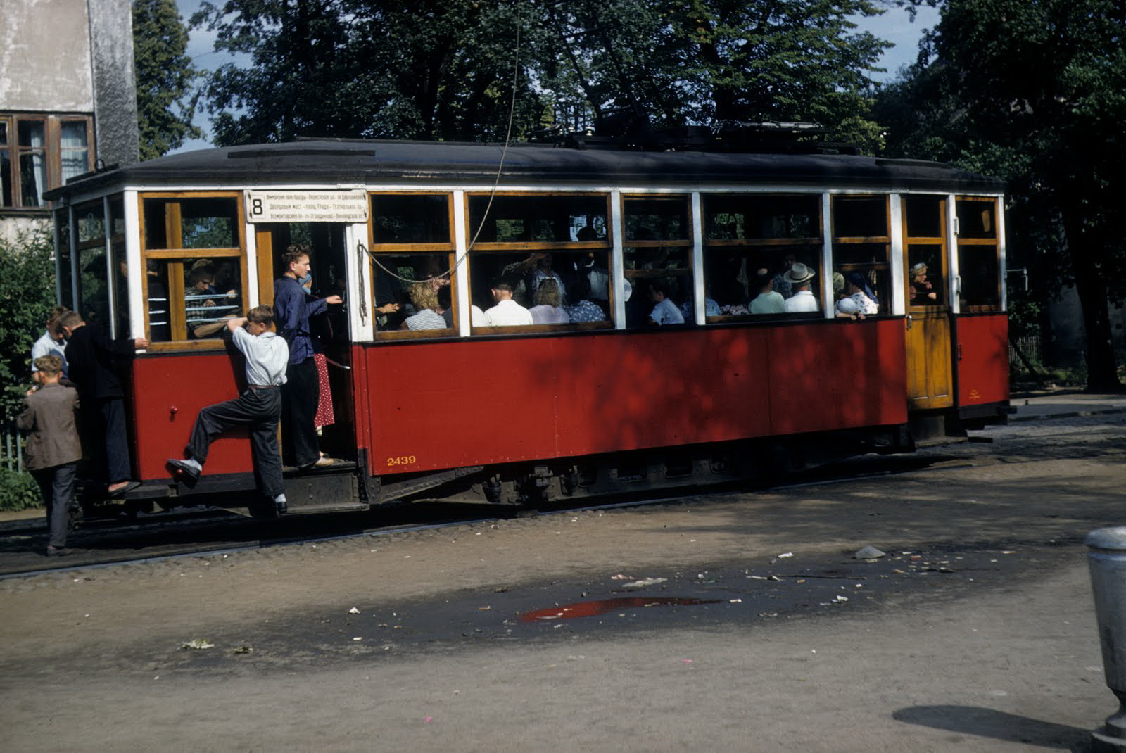1958 Ленинградский трамвай. John Shultz
