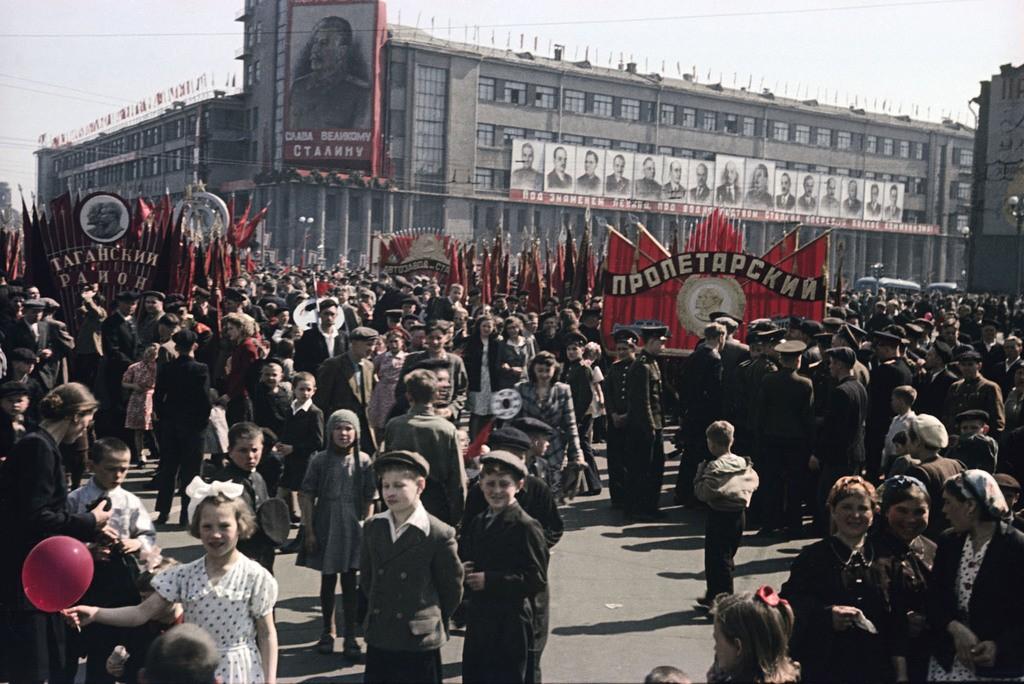1948 Mikosha Manifestation du 1er mai Moscou