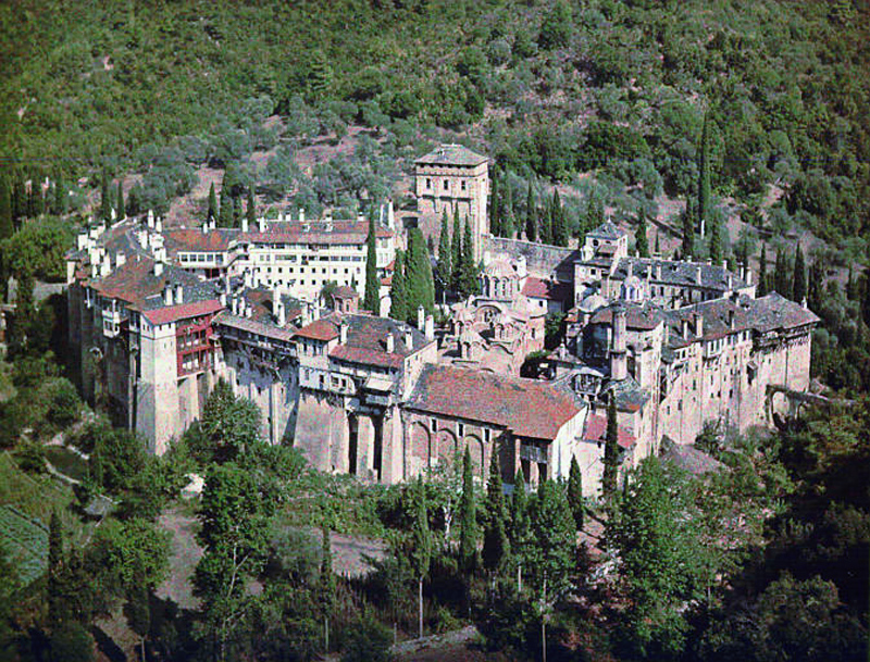 1918 Afon by Fernand Cuville Serbian Monastery