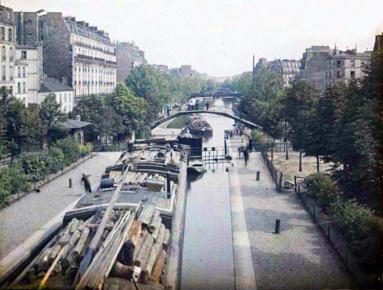 1918 Paris St Martin canal