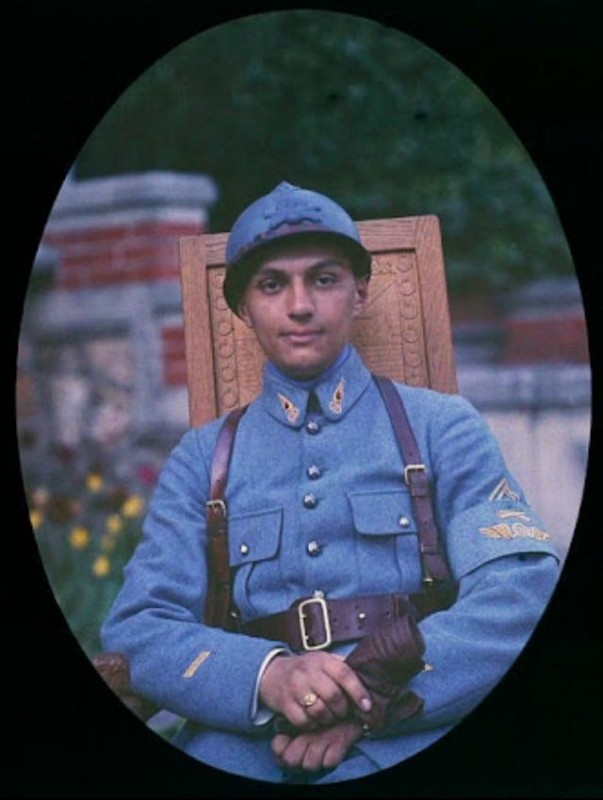 French Army Soldier. 1918 Autochrome