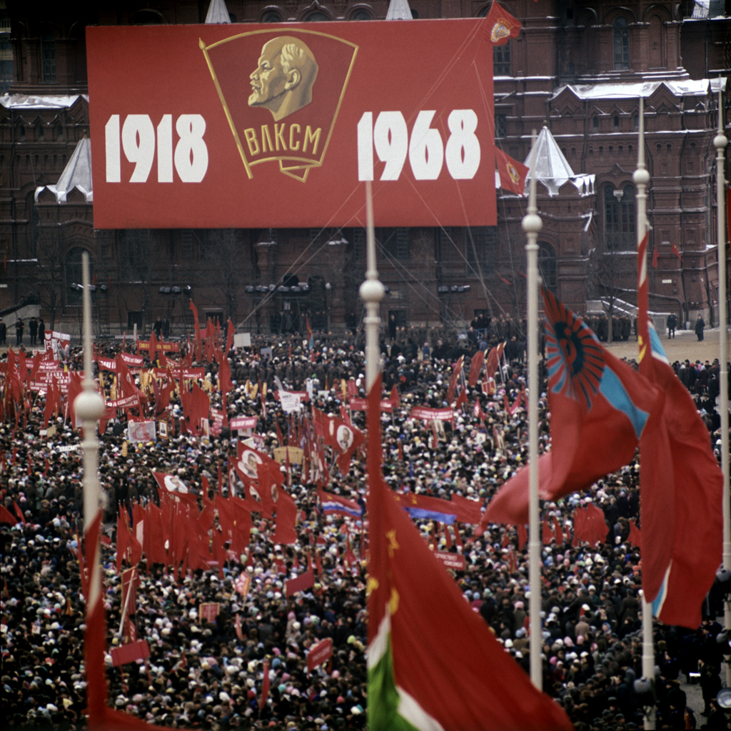 1968 RIAN_archive_Grand_manifestation_on_Red_Square