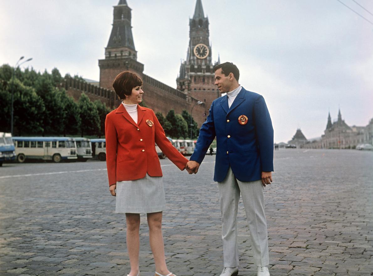 1968 Парадная форма советских спортсменов для летней Олимпиады в Мехико, Фотохроника ТАСС