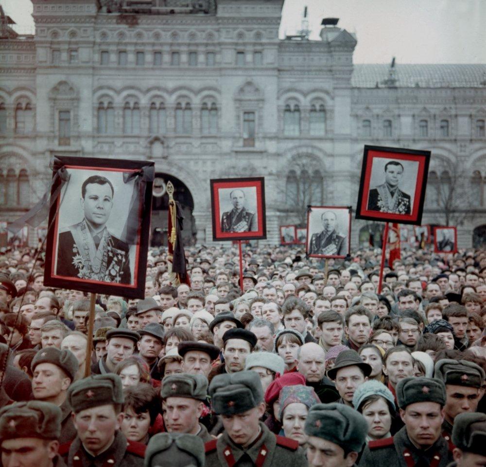 Траурный митинг 30 марта 1968 г. В.Мусаэльян, В.Севастьянов, ТАСС